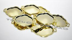 12 QUINCEANERA WEDDING MINI GOLD CANDY TRAYS PLATTER PARTY F