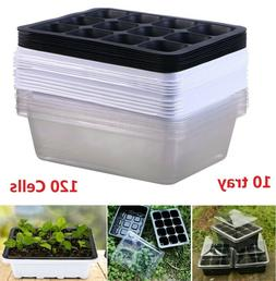 120 Cells Seedling Starter Tray Seed Germination Plants Prop