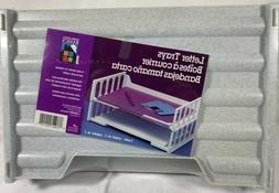 2 Pack Stackable Letter Trays. Newell Office Products. NOS.