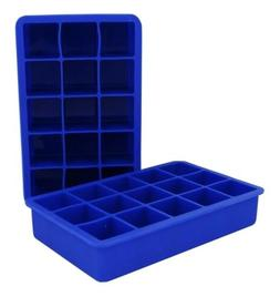 2 Tovolo Perfect Ice Cube Silicone Trays - Blue