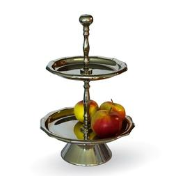 2 Tier Stand Two Tiered Serving Tray - Platter for Pastry De