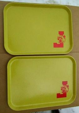 2 Vintage Logan High School Cafeteria Lunch Trays Made USA L