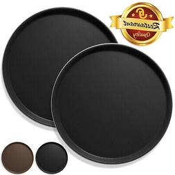 2pc Round Restaurant Serving Trays NSF Certified Non-Skid Fo