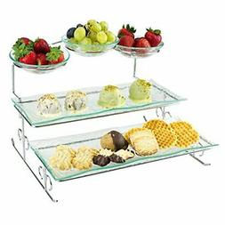3 Tier Server Stand with Trays & Bowls - Tiered Serving Plat