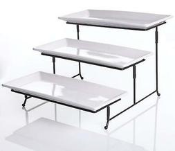 3 Tier Serving Tray - Collapsible Thicker Sturdier Plate Rac
