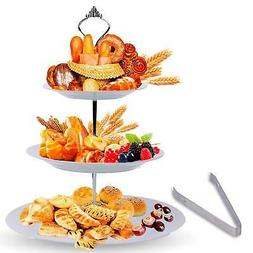 3 Tier Serving Tray Stand – Round Cupcake Dessert Party Pl