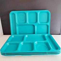 4 CAMBRO - 6 Compartment Cafeteria Trays  Camping Picnic Pat