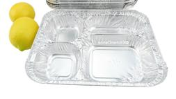 4 Compartment Disposable Aluminum T.V Dinner Tray - #4145L