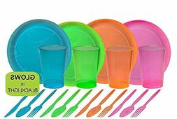 Tiger Chef 40-Piece Neon Assorted Glow Party Supplies Includ