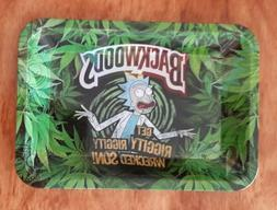 """5""""x 7"""" Rick and Morty Rolling Tray Get Riggity Wrecked Acces"""