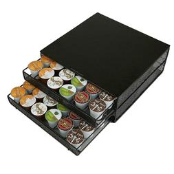 Mind Reader 72 Capacity Double K-Cup Storage Tray with Flowe