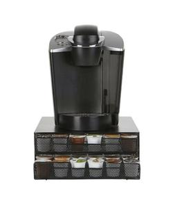 Mind Reader 72-Capacity Double K-Cup Storage Tray Black New