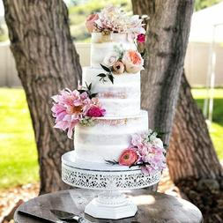 """Isabelle Collection' 12"""" Round Metal Cake Stand, Birthday Pa"""