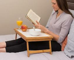 Hot Adjustable Bed Tray Lap Desk Serving Table Foldable Legs