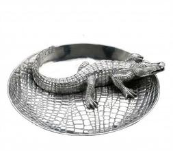 Arthur Court Alligator Chip & Dip Bowl