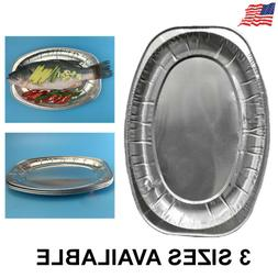 Aluminum Foil Disposable Oval Serving Dishes Tray Plates Tab