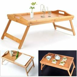 Bamboo Bed Tray Breakfast Laptop Desk Food Serving Hospital