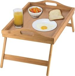 Bed Tray table with folding legs, and breakfast tray Bamboo
