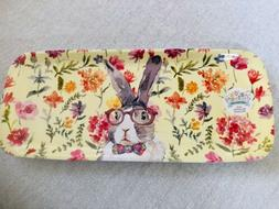 Bunny Boulevard Bunny With Glasses Serving Tray Melamine