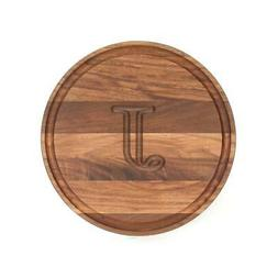 Cheese Board Kitchen Cutting Slicing Round Serving Tray Waln