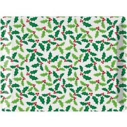 Christmas Holly Plastic Serving Tray Christmas Winter Decora