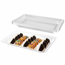 Impressive Creations Clear Rectangular Plastic Serving Tray