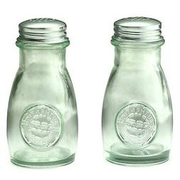 Collectible Authentic Tablecraft Recycled Glass Salt & Peppe