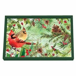 Michel Design Works Decoupage Wooden Vanity Tray, Christmas