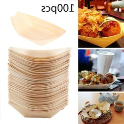 Disposable Food Trays Baskets Boats Paper Cardboard for Serving Food 100PCS