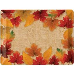 Fall Leaves Plastic Serving Tray Autumn Thanksgiving Party D