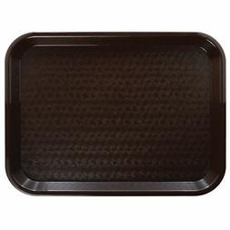 HUBERT Fast Food Tray Cafeteria Tray Brown Polypropylene - 1