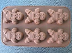 Gingerbread Man Cake Mold Flexible Silicone Mould For Candy