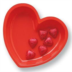 Heart Plastic Tray Candy Bowl Dish 9 Inch Valentines Day Dec