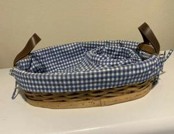 Hostess Serving Tray Basket with Protecter Fabric.liners