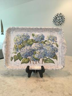 Keller Charles Hydrangea Melamine Tray New Without Tags