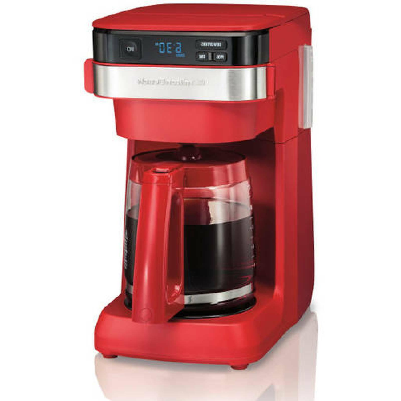 Hamilton Beach 12 Cup Programmable Coffee Maker Red Home Off