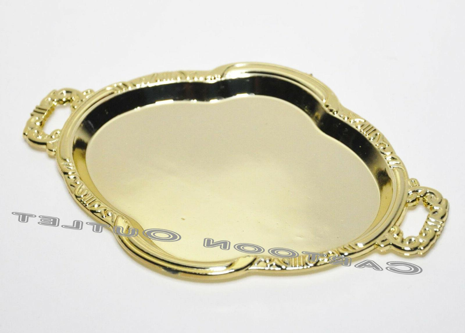 12 WEDDING GOLD CANDY TRAYS PARTY FAVORS