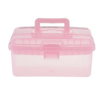 Plastic Storage Box with Tray Kids Art Craft Sewing Hobby To