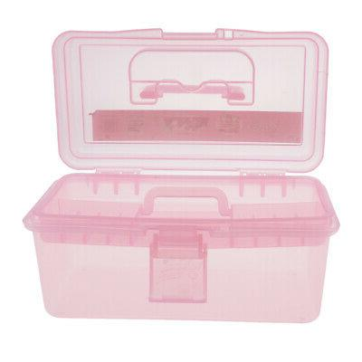 PLASTIC STORAGE BOX WITH TRAY KID TOY ART CRAFTS SEWING HOBB