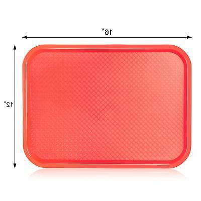 New Red Plastic Tray, Set