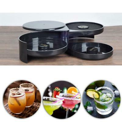 3 Tier Rimmer Juice Tray for Cocktail Plastic