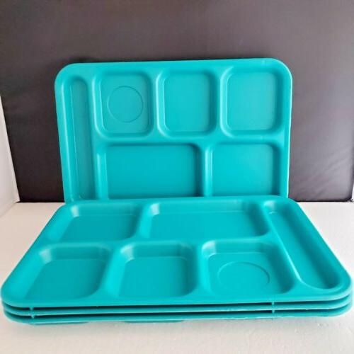 4 6 compartment cafeteria trays camping picnic