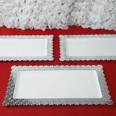 4 Plastic SERVING TRAYS Disposable TABLEWARE Party Wedding Catering