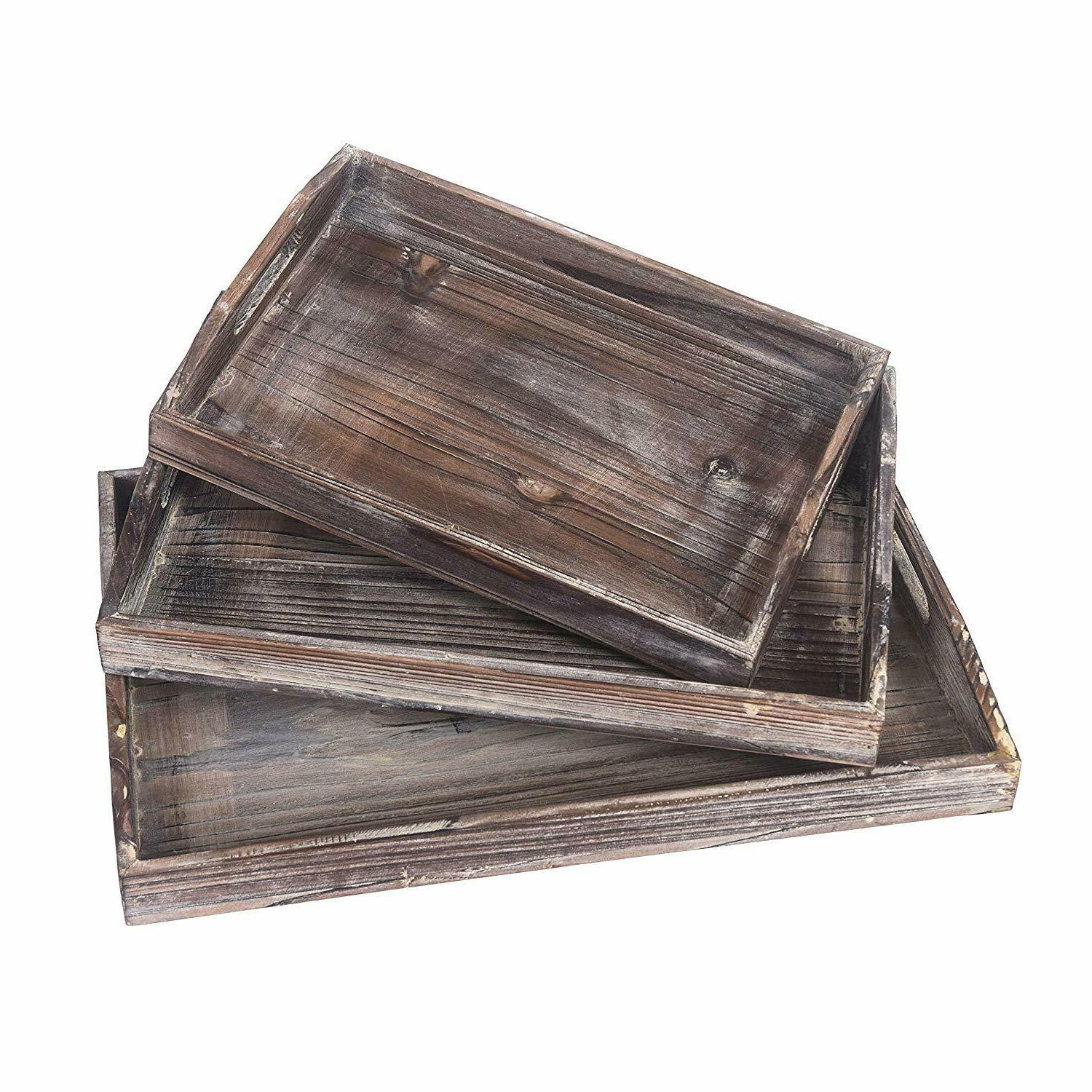 ottoman wooden serving trays rustic trays plate