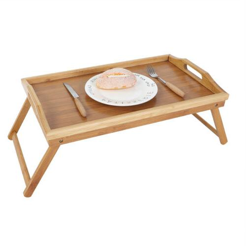 Bamboo Bed Tray Laptop Folding Legs