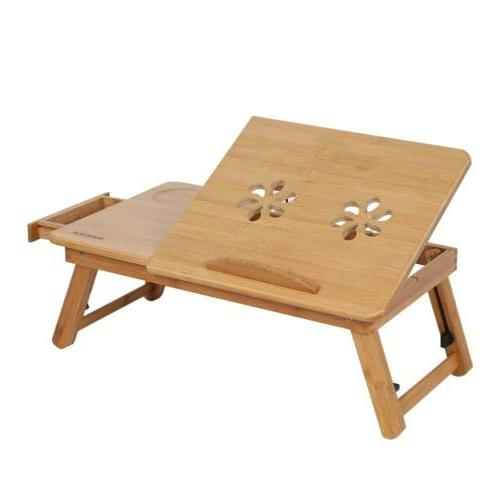 Bamboo Breakfast Table, Laptop Desk, Bed Table, Serving L