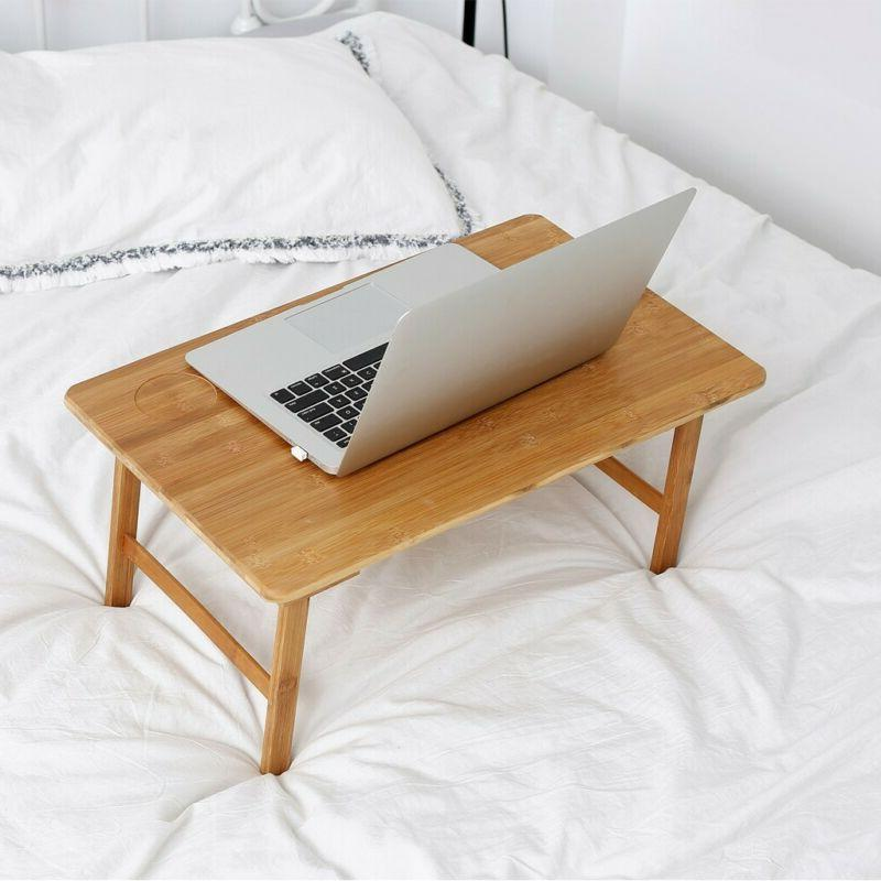 Bamboo Foldable Lap Tray Home Lazy Table US