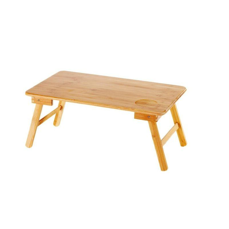 Bamboo Desk Foldable Lap Table Tray Breakfast Table