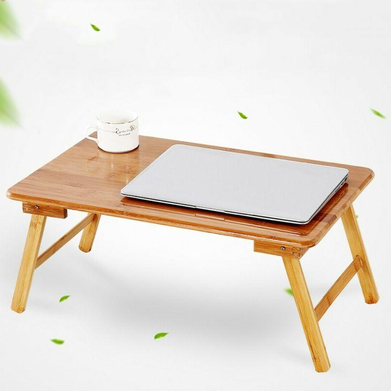 Bamboo Desk Foldable Lap Table Tray Lazy Table