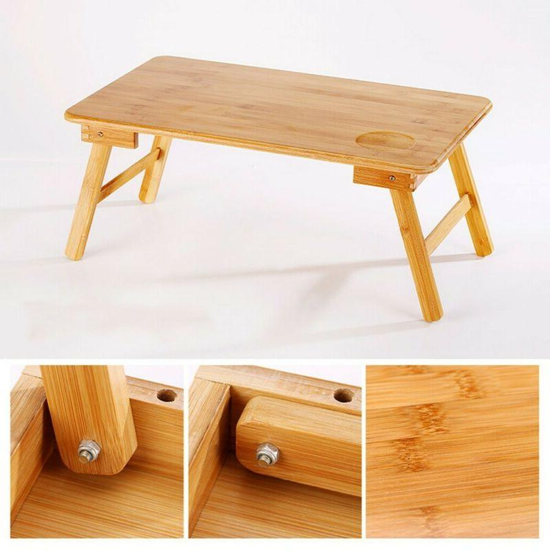 Bamboo Foldable Lap Table Tray Home Lazy Table